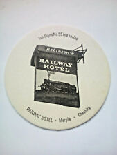Vintage ROBINSONS - INN SIGNS - RAILWAY HOTEL  - Cat No'113 Beermat / Coaster