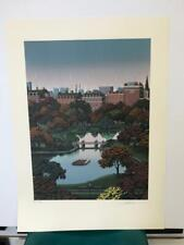 """Jim Buckels """" Boston Public Gardens """" Signed & Numbered Limited Edition Litho"""