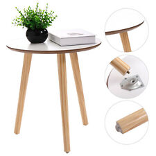 Modern Round Coffee End/Tea Table Living Room Wood Furniture Home Decor White