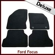Ford Focus Mk2 2004-2011 Tailored LUXURY 1300g Carpet Car Floor Mats BLACK