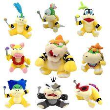 9X Super Mario Bros Koopalings King Bowser Baby Koopa Larry Ludwig Plush Toy ETC
