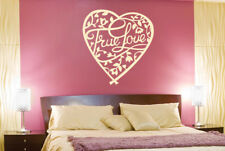 True Love Floral In Heart Wall Stickers Vinyl Art Decals