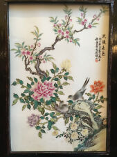 New listing A Rare and Important Chinese Famille Rose Porcelain Plaque, Republic Period.