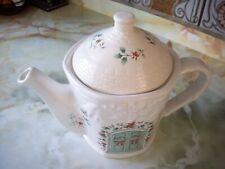 Pfaltzgraff ~ WINTERBERRY ~ Sculpted Teapot with Lid~ 4 Cup ~ U.S.A. #109-813-00