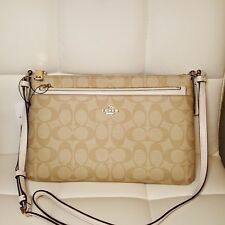NWT Coach EAST/WEST CROSSBODY W/ POP-UP POUCH IN SIGNATURE SADDLE F58316 $225