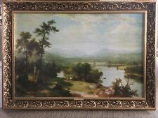 "ASHER BROWN DURAND RARE REPRODUCTION PAINTING ""WHITE MOUNTAIN SCENERY"""