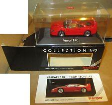 Modellino Herpa Ferrari F40 Rossa Collection 1:43 SPESE GRATIS