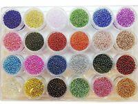 Preciosa Ornela 2mm Rocailles Silbereinzug Glasperlen Farben Set 24 Dosen 430g