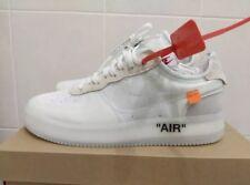 Nuevo Nike Air Force 1 X blanco apagado los diez Virgil abloh UK9 US10 EU44