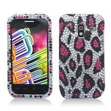 Samsung Galaxy Admire 4G Crystal Diamond BLING Case Cover Silver Pink Leopard