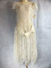 Nos Vintage 1980s Lola Berent Superstition Dress White Wedding Lace Summer Goth