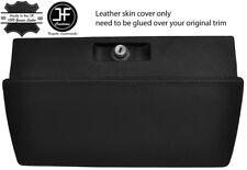 BLACK STITCHING GLOVE BOX REAL LEATHER COVER FITS VW BEETLE CLASSIC 1303