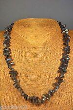 Labradorit Kette Collier 245,73 ct. Schmuck Edelstein Heilstein Halskette Neu