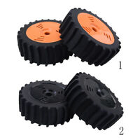 2Pcs Rubber Tyre Tires &Wheels for 1/8 Redcat, Team Losi RC Car Truggy