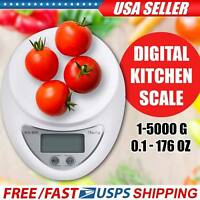 New Digital Kitchen Food Cooking Scale Weigh in Pounds, Grams, Ounces, and KG