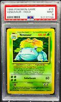 VENUSAUR HOLO 1999 Pokemon Card Base Set Unlimited WOTC PSA 9 Mint #15