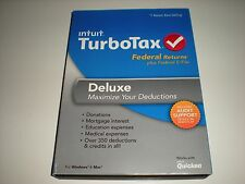 Turbotax 2013 Deluxe. Federal only + Federal E-file. Ugly new sealed box.