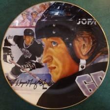 RH Gartlan/Michael J. Taylor Signed w/original art Remarque Plate Wayne Gretzky