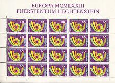 Liechtenstein Nr. 579** x 20 (Kleinbogen) Europa 1973