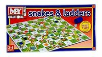 Traditional Classic Snake and Ladder Board KId Children Adult Family Play Game