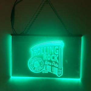 Rolling Rock LED Sign Beer Man Cave