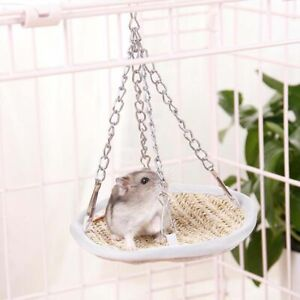 Small Pet Hammock Hamster Cage House Mini Cage Hanging Bird Nest Bed House UK