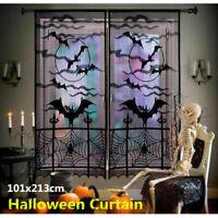 Lace Spider Web Bat Muster Fenster Tür Vorhang für Halloween  Festival Decor