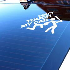 Car SUV Windshield Rear Trunk Funny White Don't Touch My Car Vinyl Decal Sticker