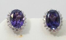 Beautiful Natural Amethyst With 925 Sterling Silver Earrings. SSER003