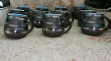 Denby Langley Mugs in Sienna Ellipse Truffle Discontinued Brown Blue Turquoise