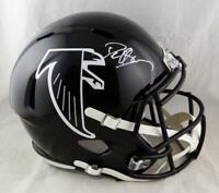 Deion Sanders Autographed F/S Atlanta Falcons 2018 Speed Helmet- Beckett Auth *F