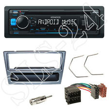 Kenwood CD USB Autoradio blau Set Renault Trafic II Blende anthrazit ISO Adapter