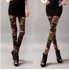 Women's Punk Funky Sexy Camouflage Leggings Stretchy Pencil Skinny Pants Fashion