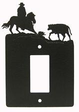 Cutting Horse Single Rocker Cover Plate Black