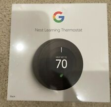 Google Nest Learning Thermostat 3rd Gen Smart Thermostat (Black) T3016US