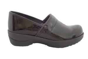 Sanita Hygge Wave Clogs - best nurse shoes - comfortable - Black Patent leather