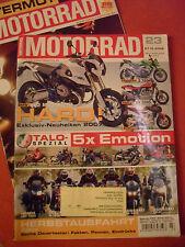 MOTORRAD Zeitschrift 23 Okt. 2006+Spezial INTERMOT Kawasaki Harley Benelli Honda