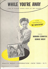 "My Reputation ""While You're Away"" Barbara Stanwyck George Brent Max Steiner"