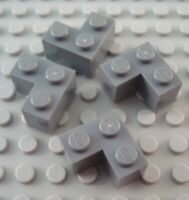 LEGO Lot of 2 Light Gray 1x4 Door Rail Groove Brick Pieces