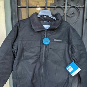 Columbia Insulated Winter Jacket Large Black Men's L  winter snow rain jacket