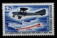50Jahre Flugpostverbindung Paris - St.Nazaire (1918). 1W. Frankreich 1968