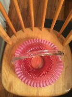 Rare Vintage FENTON glass Basket
