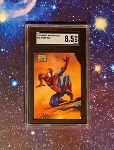 1996 Marvel Masterpieces SPIDER-MAN - SGC 8.5 POP 1