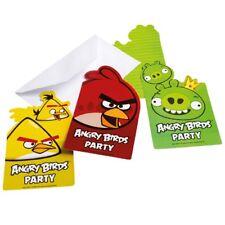 Einladungskarten Angry Birds 6 Stk.