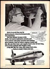 1972 DELTA AIRLINES DC-10 Mechanic Jim Grunenwald Photo AD