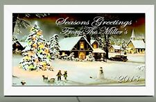 Personalized Christmas Village Seasons Greetings lighted wall sign Great Gift
