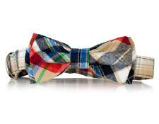 Plaid Bow Tie Dog Collar-  Stylish Custom Dog Collar (Bow Tie Collar)