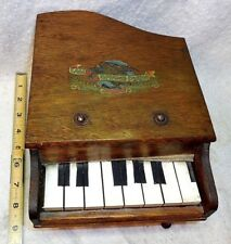 Vintage 1950`s Eagle Grand Piano Solid Oak Working Miniature Child`s Toy Piano