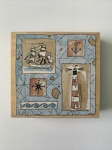 "Penny Black ""Nautica"" Stamp Lighthouse, Ship, Anchor"