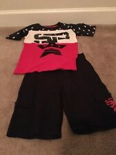 Street Property Kids 2 Piece Outfit Set Shirt Top And Shorts Sz 5 Multicolor
